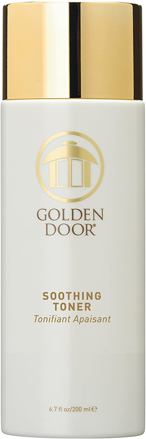 Golden Door Soothing Toner, 6.7 fl oz, Therapeutic botanicals Reduce Irritation & Inflammation, pH Balanced, Gently removes Residue with a Calming Blend of extracts and Essential Oils, Won't Dry Skin