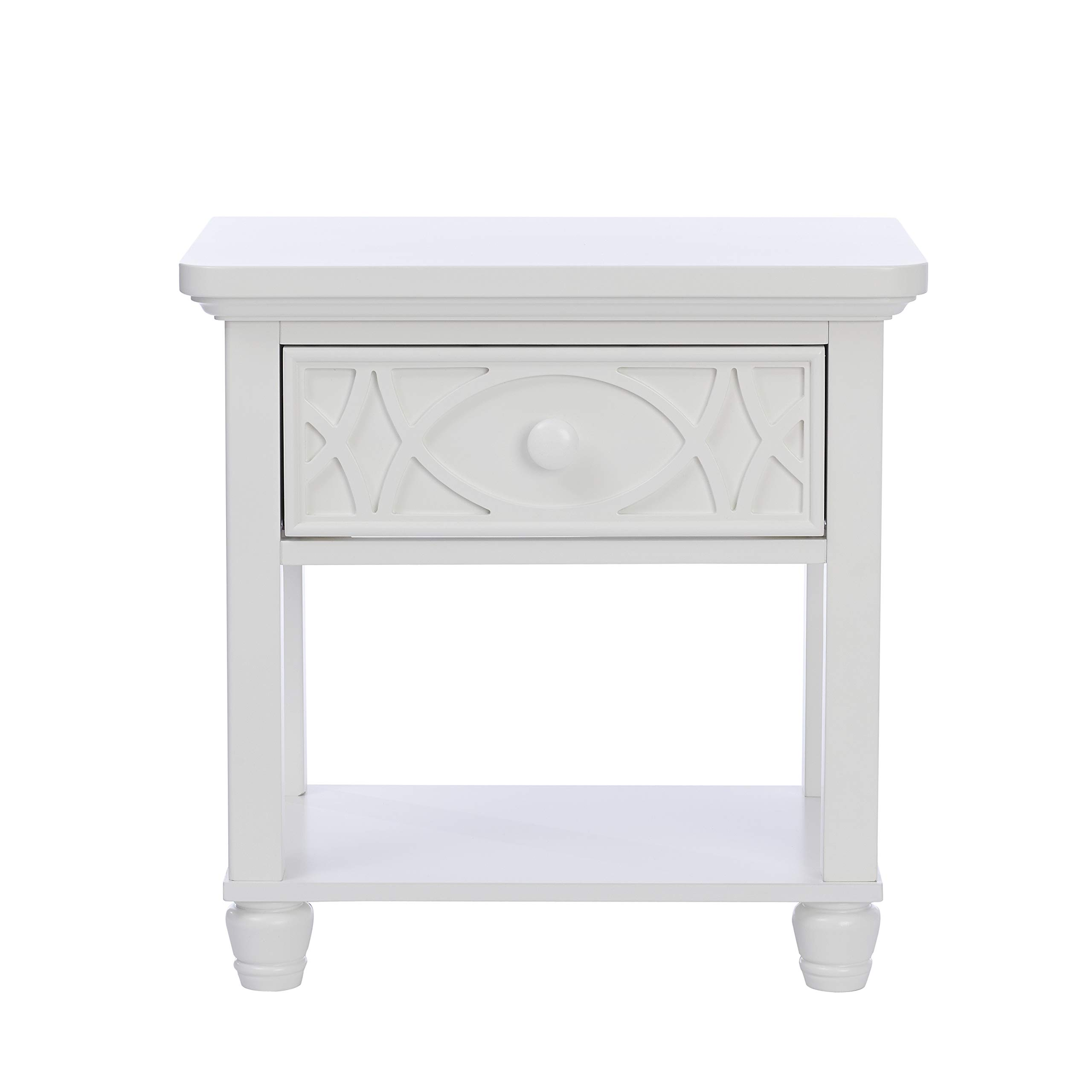 Baby Cache Haven Hill, 1 Drawer Nightstand, White Lace by Baby Cache