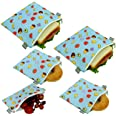 Reusable Sandwich Bags Snack Bags - Set of 5 Pack, Dishwasher Safe Lunch Bags with Zipper, Eco Friendly Food Wraps, BPA-Free.
