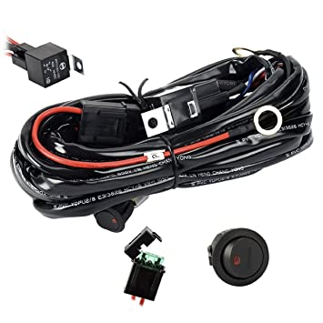 Wiring Harness Eyourlife Heavy Duty Wiring Harness Kit For Led Light Bar 300w 12v 40a
