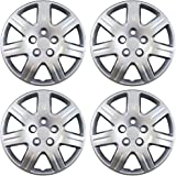 Hubcaps for Honda Civic (Pack of 4) Wheel Covers - 16 Inch, 7 Spoke, Bolt On, Silver