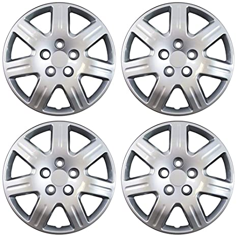 16 inch Hubcaps Best for 2006-2013 Honda Civic - (Set of 4) Wheel Covers 16in Hub Caps Silver Rim Cover - Car Accessories for 16 inch Wheels - Snap On ...