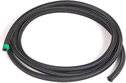 New 10 Feet AN10 Nylon Braided Turbo Fuel Oil Gas Line Hose 10AN Black