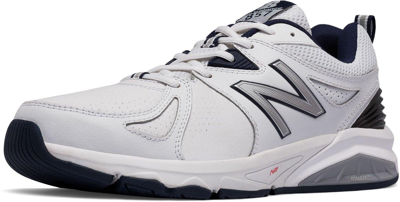 New Balance Men's mx857v2 Casual Comfort Training Shoe, White/Navy, 7 6E US by New Balance