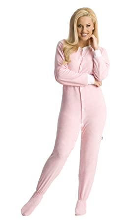 d586d15a2c76 Amazon.com  ABDL Supply Pink Terry Cloth Adult Footed Onesie Pajamas ...