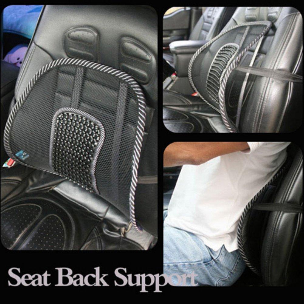 Zehui Mesh Back Lumbar Support Massage Beads For Car Seat Chair Massage  Cushion: Amazon.co.uk: Car U0026 Motorbike
