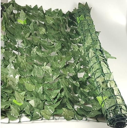 Jardin Artificiel - Seto artificial de laurel de ocultación, 1 x 3 metros: Amazon.es: Hogar