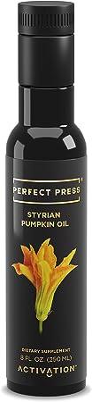 Activation Products, Perfect Press Styrian Pumpkin Oil – Powerful Antioxidant Pumpkin Seed Supplement – Organic, Vegan Liquid Pumpkin Seed Oil for Prostate, Bladder and Kidney Health, 250ml