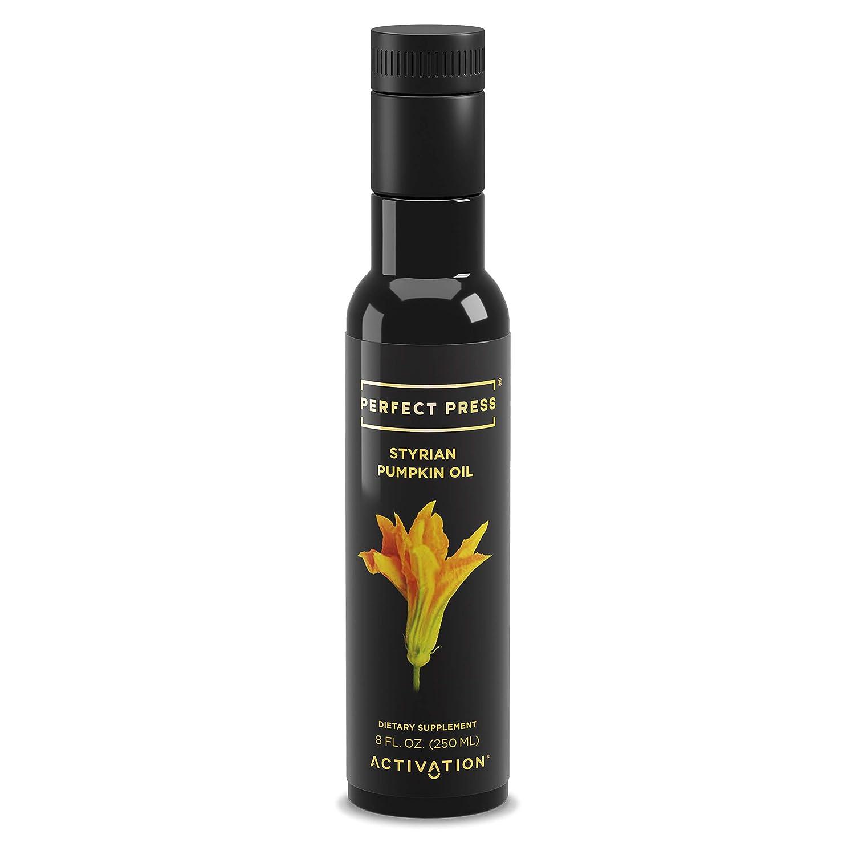 Activation Products, Perfect Press Styrian Pumpkin Oil Powerful Antioxidant Pumpkin Seed Supplement Organic, Vegan Liquid Pumpkin Seed Oil for Prostate, Bladder and Kidney Health, 250ml