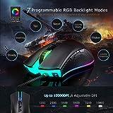 PICTEK RGB Gaming Mouse Wired - 10,000 DPI