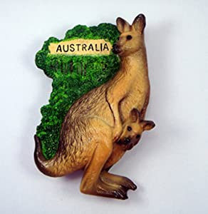 Kangaroo Australia Souvenir Fridge Magnet Magnetic Collectibles Cute Charm Gift Hand Sculpting and Hand Painting 3D