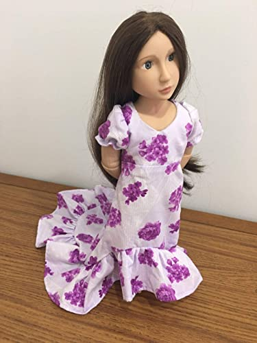 Train Dress Fits 16 A Girl For All Time Doll Clothes Gown Hawaiian Luau Inspired Handmade NO DOLL