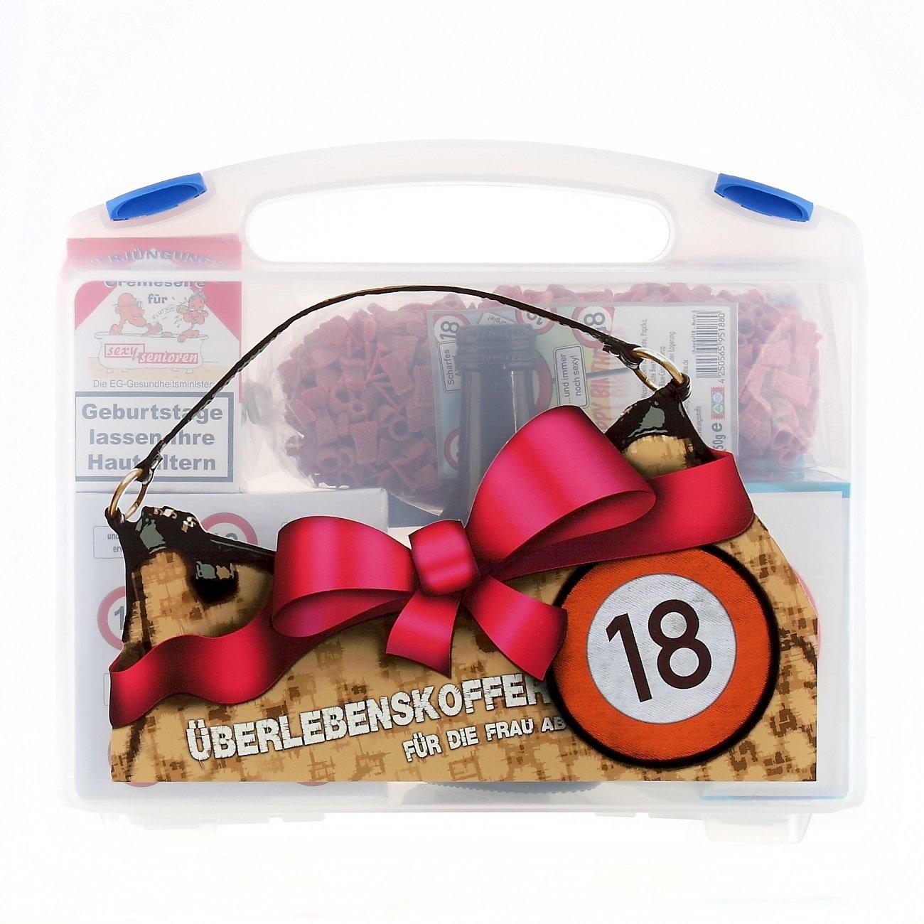 Lustige Apotheke Überlebenskoffer für die junge Frau ab 18 (8 teilig) Lustapotheke®