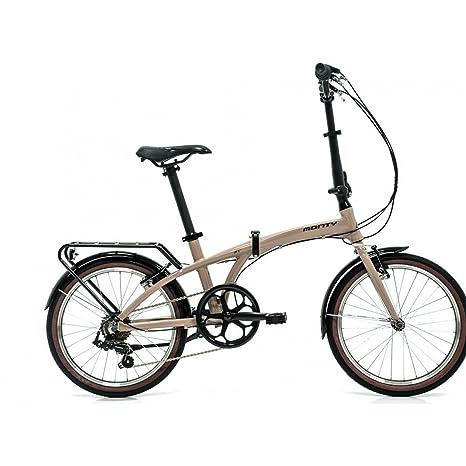 Monty Folding - Bicicleta Plegable, Color Negro/Plateado, 20 ...