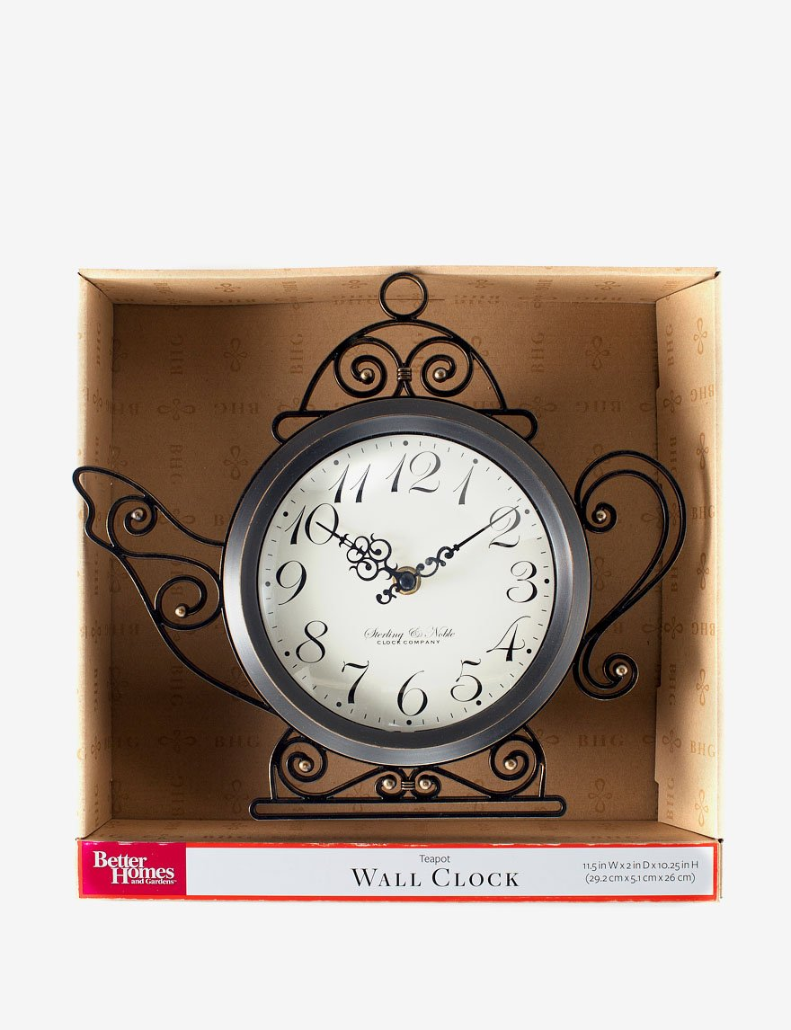 Better Homes And Gardens Wall Clock Teapot By Sterling And Noble
