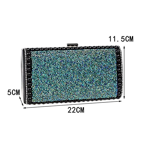 Bolso de Banquete de Diamantes de imitación de Gama Alta para Mujer Bolso de Mano de Noche (Color : A): Amazon.es: Zapatos y complementos