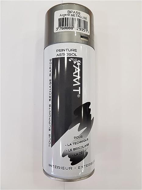 Bombe De Peinture Aérosol Amt Argent Metallisé 330 Ml