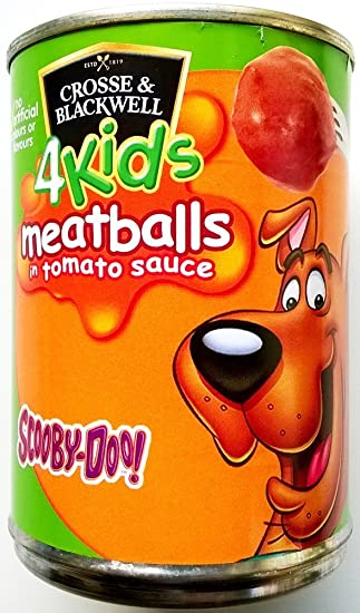 Cross & Blackwell para niños Scooby Doo Albóndigas en salsa de tomate 3 x 370gm