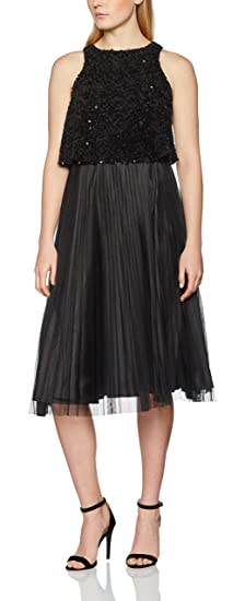 Dorothy Perkins Womens Luxe Pop Over Tulle Prom Dress, (Black), ...