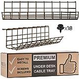 Scandinavian Hub Bandeja Organizadora Cables para Debajo de la Mesa o Escritorio – Organiza sin Nudos los Cables de tu…