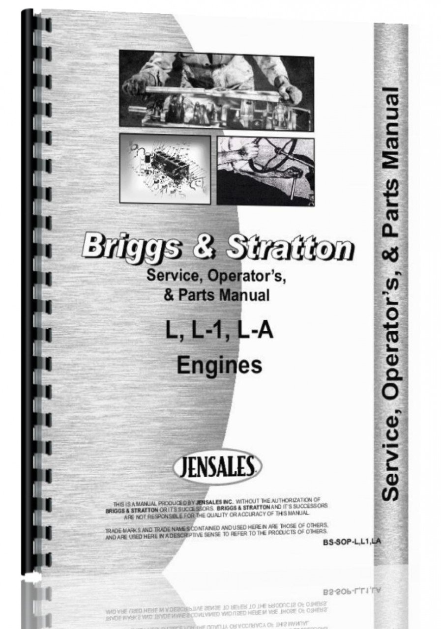 Amazon.com: Briggs And Stratton Engine Service Manual (L | L1 LA Engine)  (6301147614940): Briggs And Stratton: Books