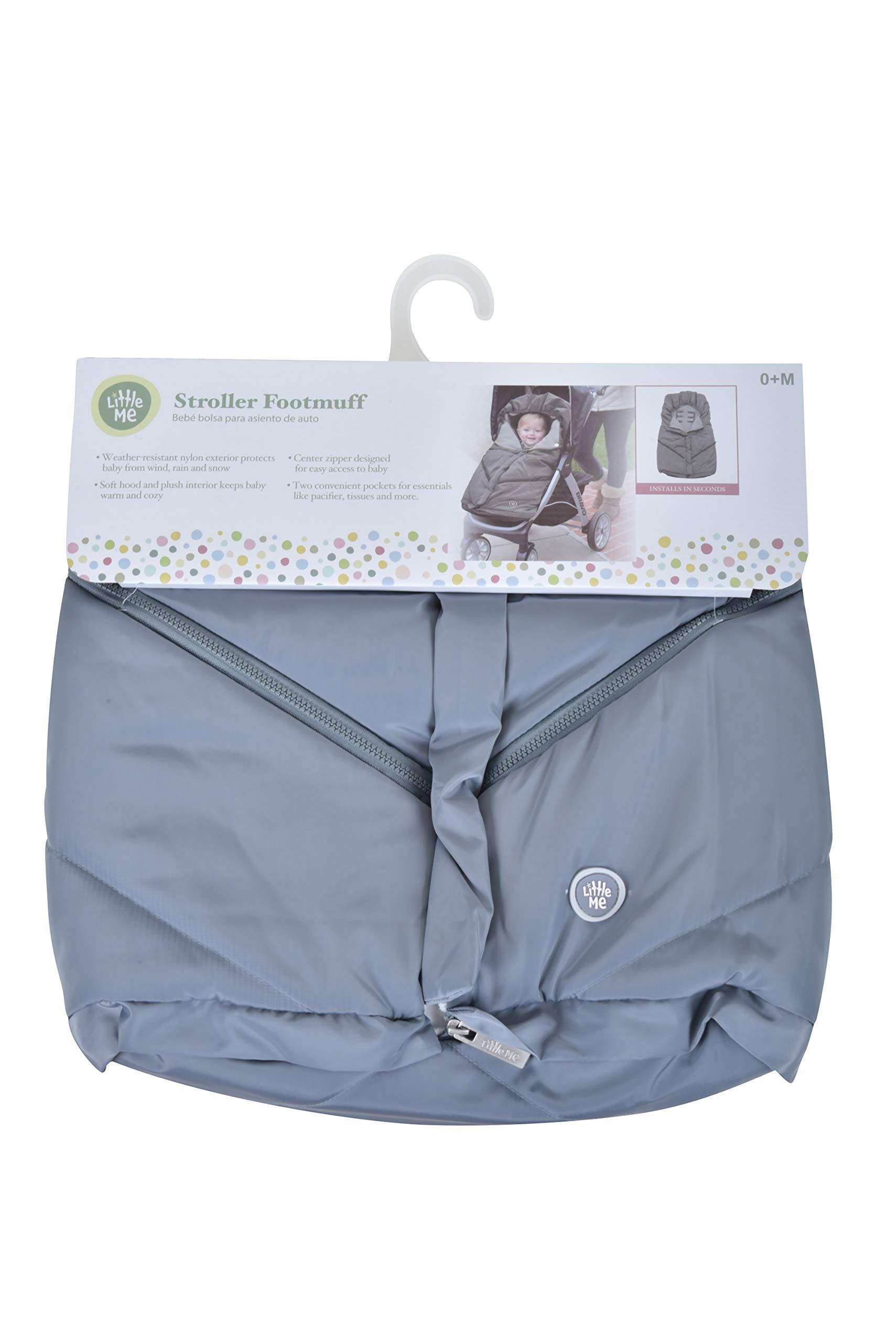Little Me Footmuff for Strollers, Grey by Little Me (Image #3)