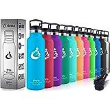 Grsta Sport Bottiglia per Acqua in Acciaio Inossidabile Isolamento Sottovuot