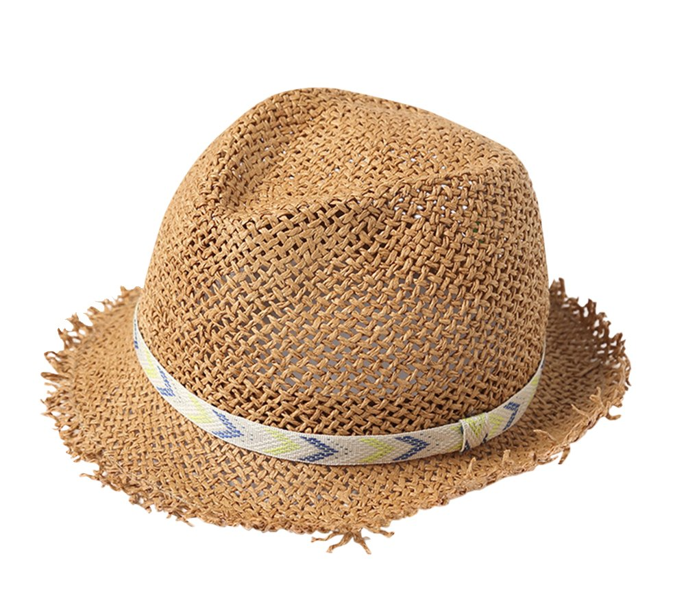 Genda 2Archer Straw Hat Baby Boys Hollowing Breathable Sun Protection Cap (1-2Years)