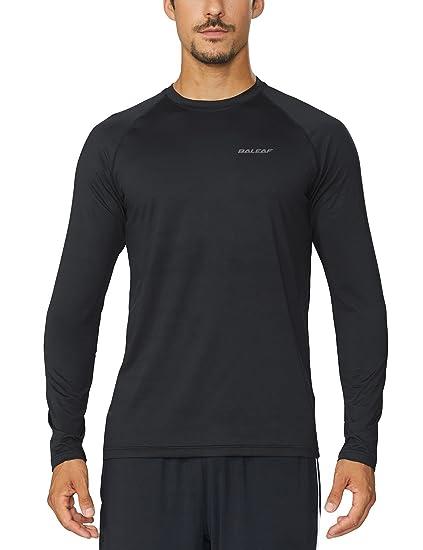 Amazon.com  Baleaf Men s Cool Running Workout Long Sleeve T-Shirt ... ec6d2957b85