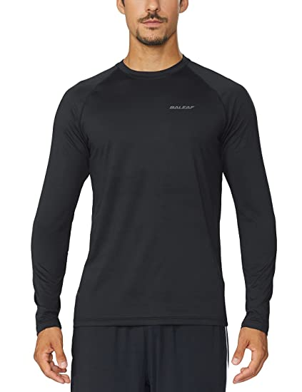 984b71664cab Amazon.com  Baleaf Men s Cool Running Workout Long Sleeve T-Shirt ...
