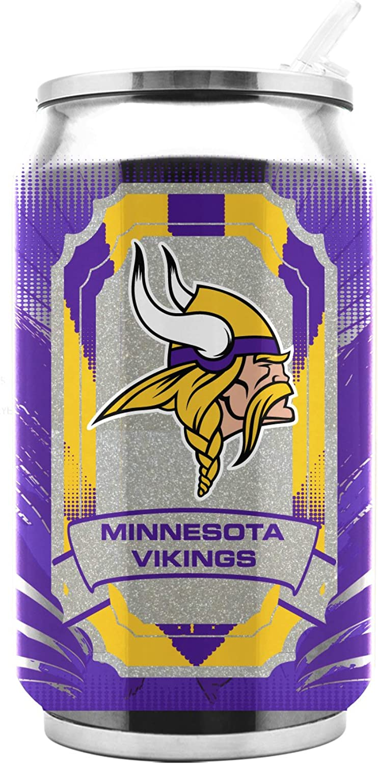 NFL Minnesota Vikings 16oz Double Wall Stainless Steel Thermocan