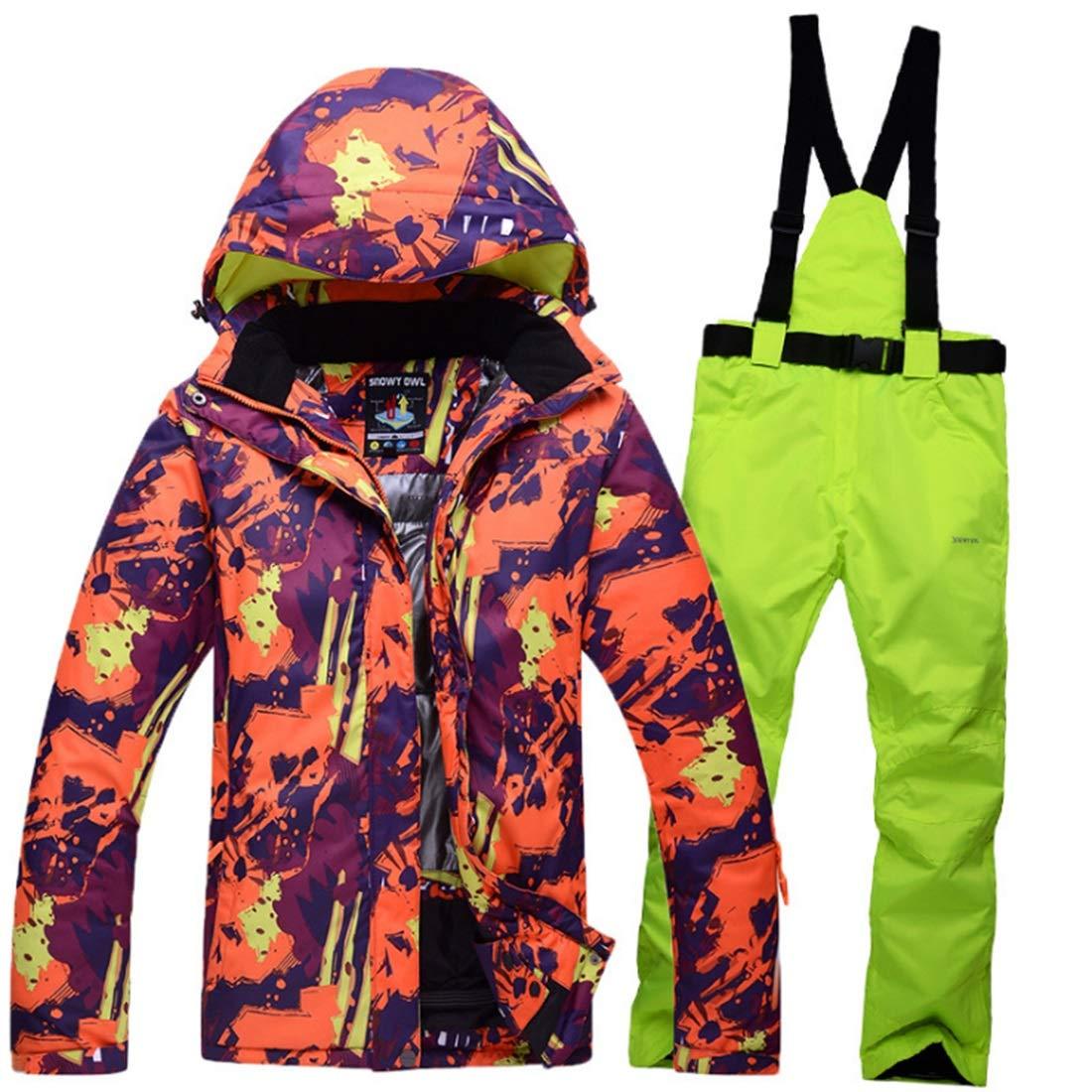 LilyAngel メンズ&レディース防水通気性スノーボードスキージャケット  XXL