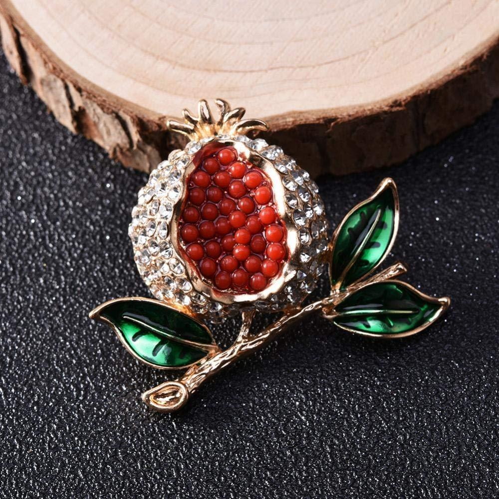Unisexe F/ête de No/ël Femmes Corsage Fashion Cent Set Diamant Broche Grenade Fruit S/érie Broche