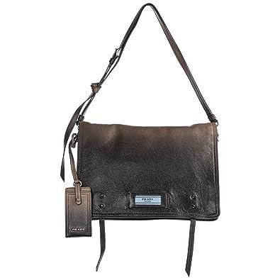 893445fb4e Prada Etiquette sac bandoulière femme marrone: Amazon.fr: Chaussures ...
