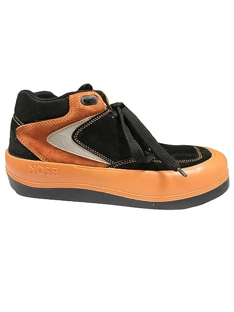 brand new ff443 c79c5 Nose PEN1050-179B Vintage Suede Sneakers Orange/Black UK9 ...