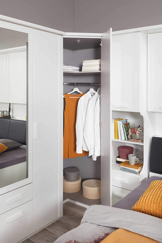 lifestyle4living Schlafzimmer Komplett Set in weiß 5 teilig