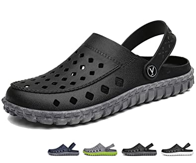 beister mens garden clogs mules anti slip water shoes breathable sandals slippers outdoor - Mens Garden Shoes