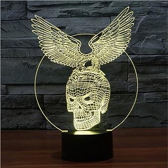 Lampe Diao Tactile Coloré Led 3d Cadeaux Créatifs Crâne Aigle 7f6bgy