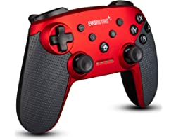 Wireless Bluetooth Controller Compatible with Nintendo Switch Pro (Red) | PC Gamepad Joypad Remote with Gyro Axis (Turbo Butt