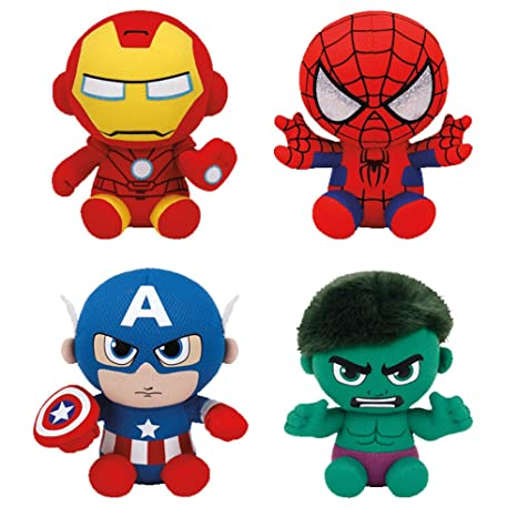 685e73fc3d0 Image Unavailable. Image not available for. Color  Set of 4 Ty Marvel  Beanie Baby Spider-Man ...