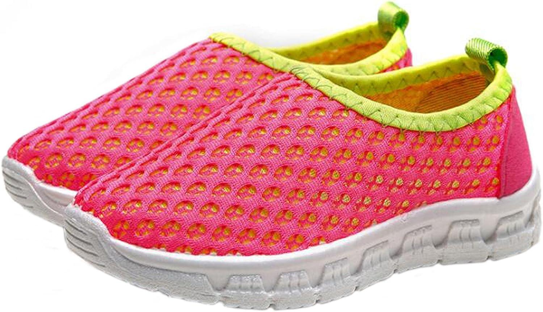 WUIWUIYU Chaussures de Course Mesh Respirant Sneakers pour Gar/çons Filles
