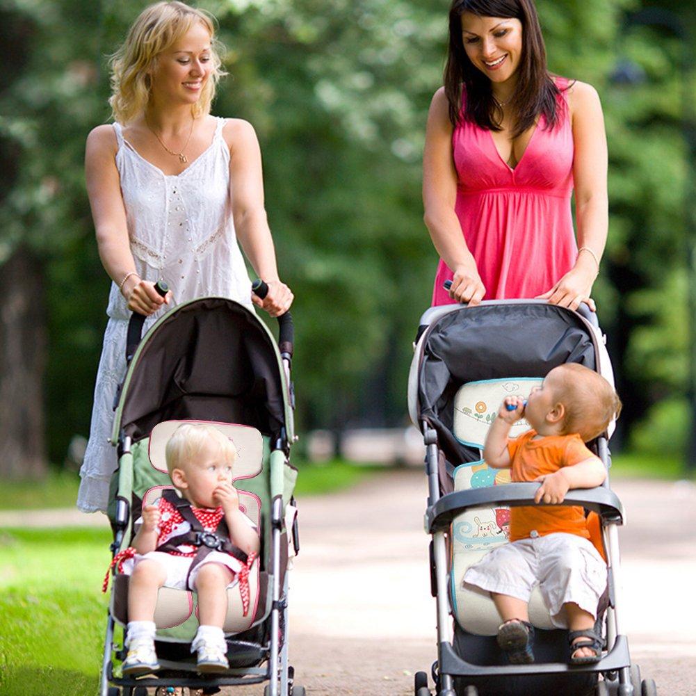 Blau Verringert Schwitzen Ihres Kindes Yuccer Atmungsaktive Sitzauflage Antiallergische Sommer Kinderwagen Sitzeinlage f/ür Buggy Babyschale Autokindersitz Baby Sitzauflage