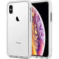JETech Funda Compatible iPhone XS y iPhone X, Carcasa Bumper, Shock-Absorción y Anti-Arañazos, HD Clara