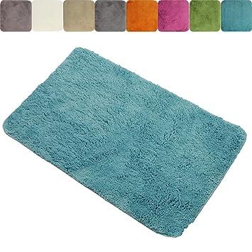 Tapis premium de salle de bain XXL Lasalle anti-glissant en beige 70 x 120  cm - Plusieurs couleurs au choix