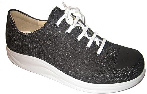 Finn Comfort Finnamic - Zapatos de Cordones de Piel para Mujer Negro ... e619b4652f21