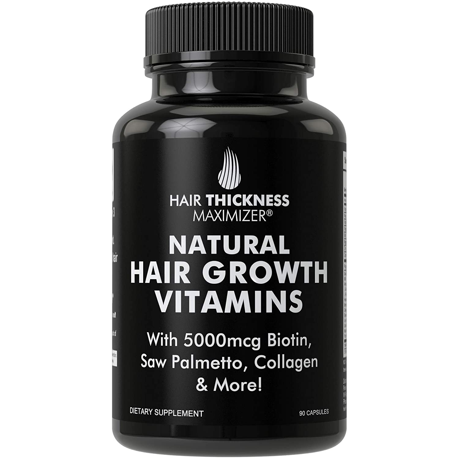 Hair Growth Vitamins >> Natural Hair Growth Vitamins By Hair Thickness Maximizer Hair Regrowth Vitamin Supplement With Biotin 5000 Mcg Collagen Saw Palmetto Stop Hair