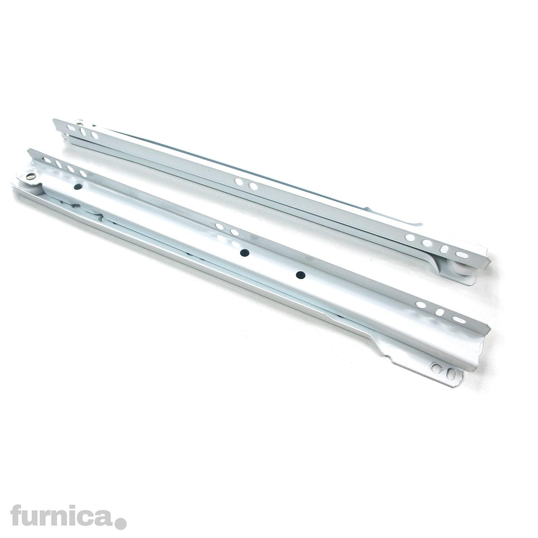 FURNICA Gu/ías de Rodillo para Caj/ón L:350mm