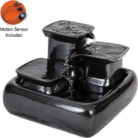 Miaustore Fuente de Agua de Cerámica para Gatos con Sensor de ...