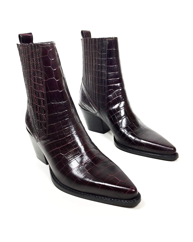ff42ab2f4d8b6 Amazon.com  Zara Women Mock Croc Print Leather Ankle Boots 5131 301  Shoes