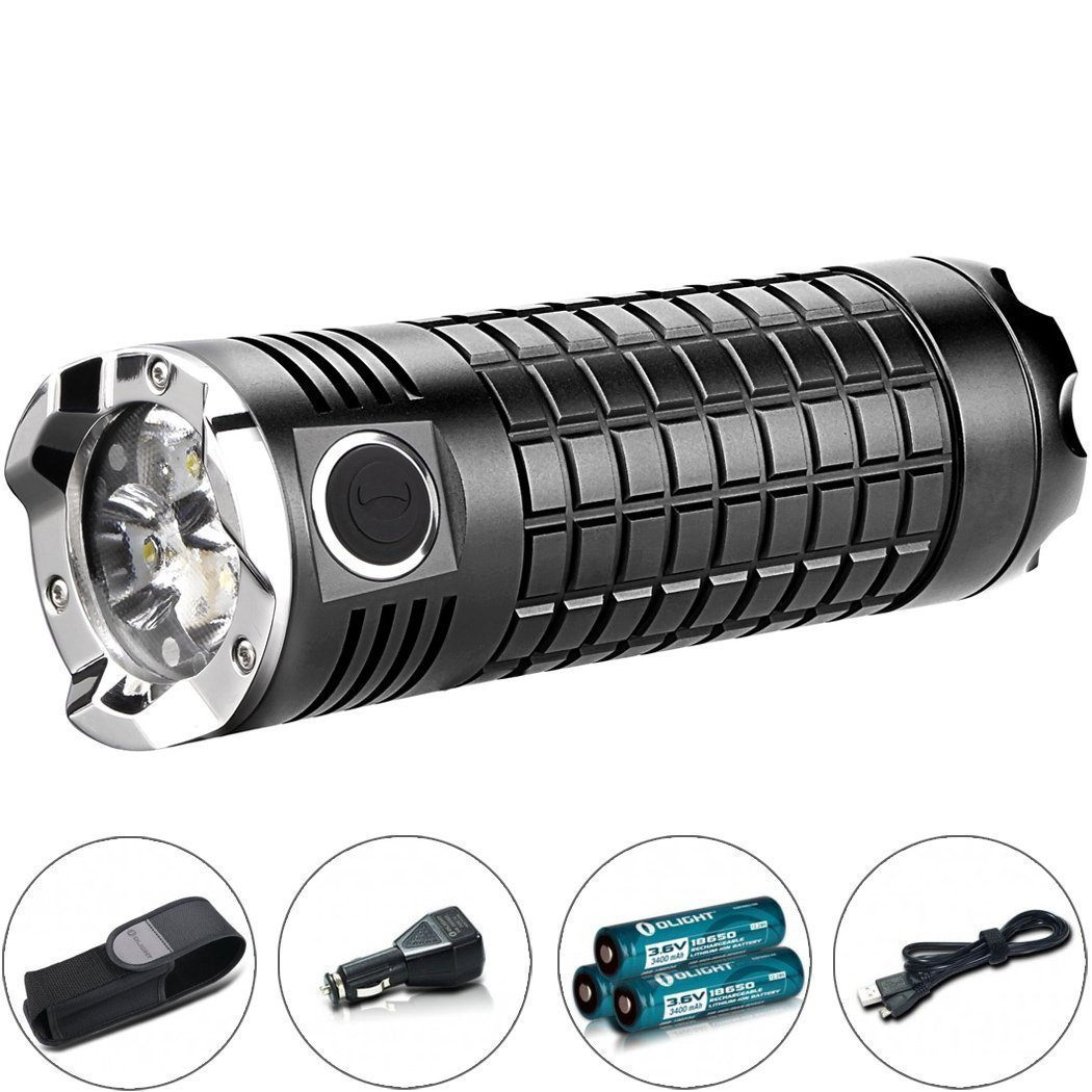 Olight SR MINI Intimidator II LED Taschenlampe mit Max. 3200 Lumen